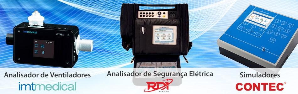 analisador de oximetria, ventilação pulmonar e simuladores multiparametricos