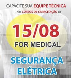 Curso de Segurança Elétrica na For Medical. Curso teórico e prático sobre a interpretação da norma NBR IEC 60601-1
